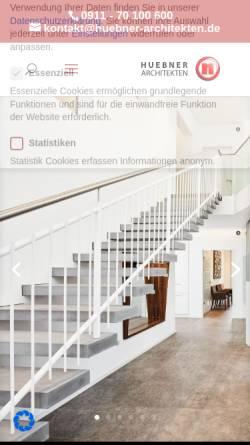 Vorschau der mobilen Webseite www.huebner-architekten.de, Hübner Architekten