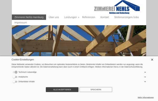 Vorschau von www.zimmerei-nehls.de, Zimmerei Nehls