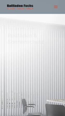 Vorschau der mobilen Webseite www.rollladen-fuchs.de, Rollladen Fuchs