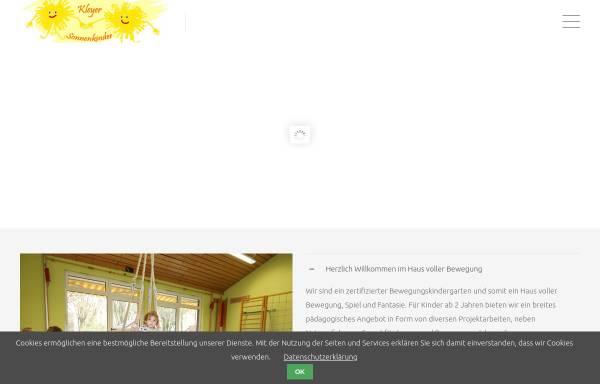 Vorschau von www.kleyer-sonnenkinder.de, Kleyer Sonnenkinder e.V.