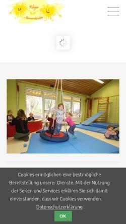 Vorschau der mobilen Webseite www.kleyer-sonnenkinder.de, Kleyer Sonnenkinder e.V.