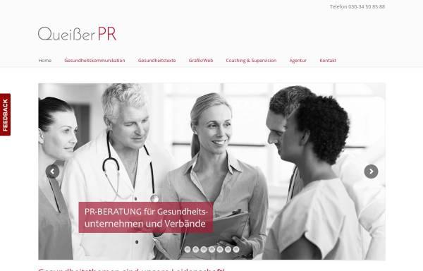 Vorschau von queisser-pr.de, Agentur für Gesundheitskommunikation - Queißer-PR