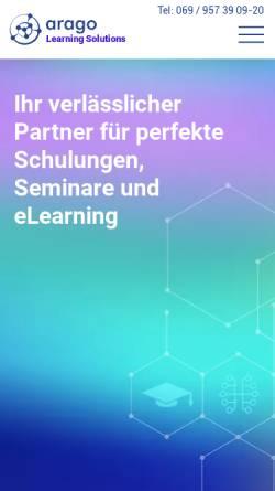 Vorschau der mobilen Webseite www.arago-consulting.de, arago Consulting GmbH
