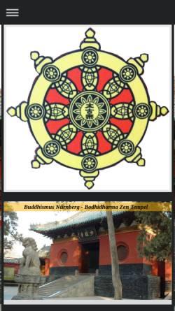 Vorschau der mobilen Webseite www.buddhismusnuernberg.de, Buddhismus Nürnberg