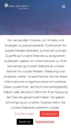 Vorschau der mobilen Webseite www.gabel-security.de, Gabel Security GmbH