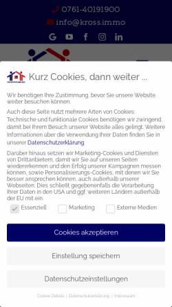 Vorschau der mobilen Webseite www.immomakler-freiburg.de, Daniel Kroß Immobilien