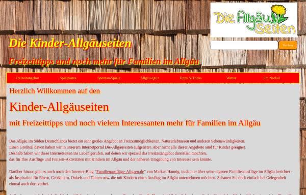Vorschau von www.kinder.die-allgaeuseiten.de, Die Kinder-Allgäuseiten