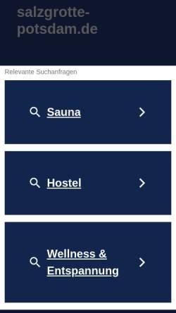 Vorschau der mobilen Webseite www.salzgrotte-potsdam.de, Salzgrotte Potsdam