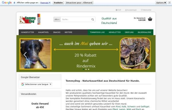 Vorschau von www.tommydog.de, Tommydog