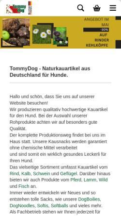 Vorschau der mobilen Webseite www.tommydog.de, Tommydog