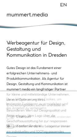 Vorschau der mobilen Webseite mummert.media, Mummert Media - Agentur für Gestaltung und Kommunikation
