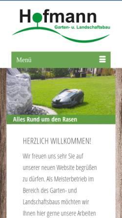 Vorschau der mobilen Webseite www.landschaftsbau-hofmann.de, Landschaftsbau Hofmann