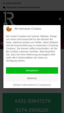 Vorschau der mobilen Webseite www.mein-schluesseldienst-kiel.de, Mein Schlüsseldienst Kiel