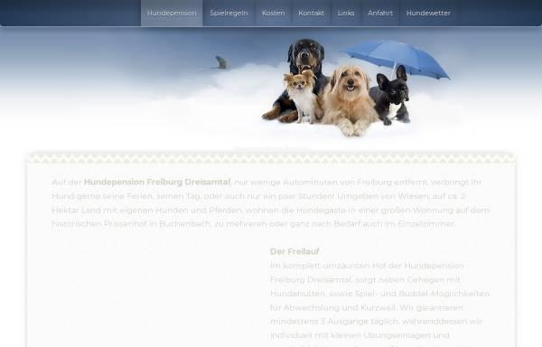 Vorschau von hundepension-freiburg-dreisamtal.de, Hundepension auf dem historischen Prissenhof