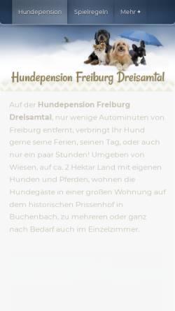 Vorschau der mobilen Webseite hundepension-freiburg-dreisamtal.de, Hundepension auf dem historischen Prissenhof