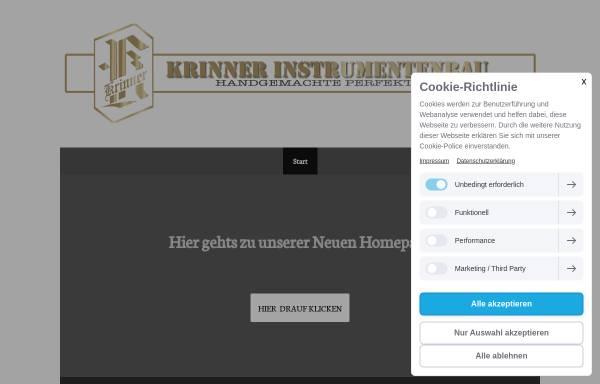 Vorschau von www.krinner-instrumentenbau.de, Krinner Instrumentenbau