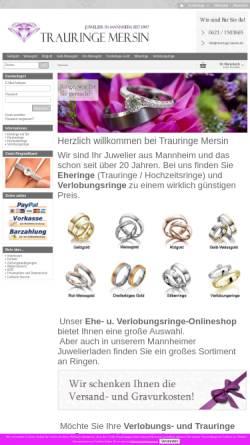 Vorschau der mobilen Webseite www.trauringe-mersin.de, Juwelier Mersin