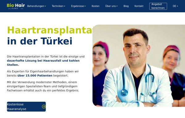 Vorschau von biohairclinic.com, BioHairClinic