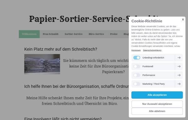 Vorschau von www.papier-sortier-service-schmidt.de, Papier-Sortier-Service-Schmidt