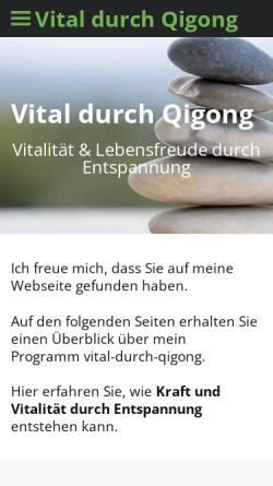 Vorschau der mobilen Webseite www.vital-durch-qigong.de, vital-durch-qigong