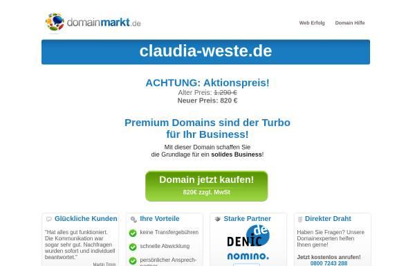 Vorschau von www.claudia-weste.de, Claudia Weste Zeitarbeit GmbH