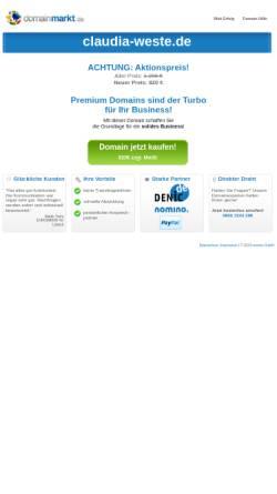 Vorschau der mobilen Webseite www.claudia-weste.de, Claudia Weste Zeitarbeit GmbH