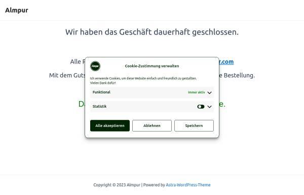 Vorschau von www.almpur.de, Almpur - Tiroler Spezialitäten auf dem Wochenmarkt