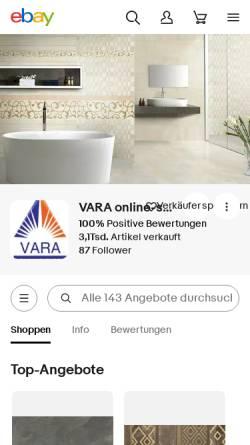 Vorschau der mobilen Webseite www.vara-shop.de, VARA Online Shop
