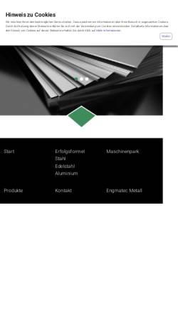 Vorschau der mobilen Webseite www.engmatec-metall.de, Engmatec Metall