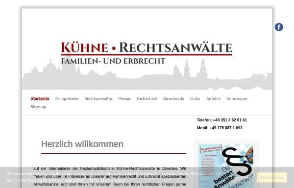 Vorschau von www.kuehne-rechtsanwaelte.de, KÜHNE Rechtsanwälte / Fachanwälte