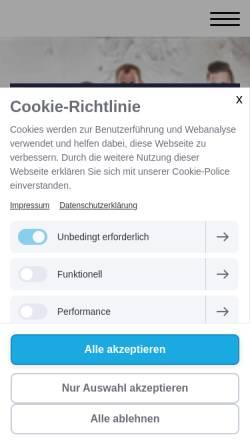 Vorschau der mobilen Webseite www.rohrreinigung-thimm.de, Rohrreinigungsdienst Thimm OHG