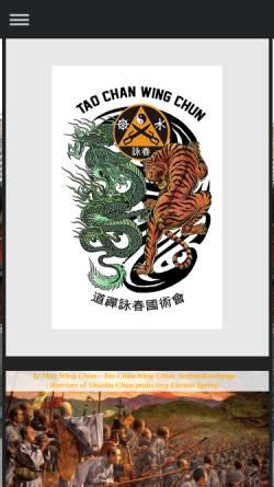 Vorschau der mobilen Webseite www.wingchun-ipman.de, Tao Chan Wing Chun Organisation Dachverband