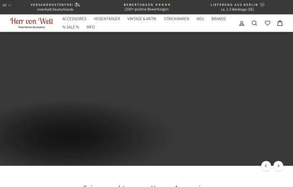 Vorschau von www.herr-von-welt.de, Herr von Welt
