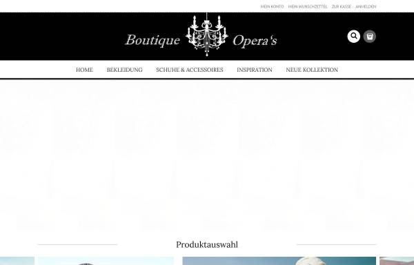 Vorschau von www.boutique-operas.de, Boutique Opera's