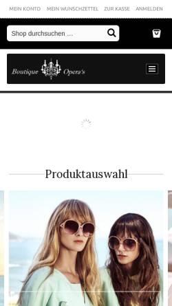 Vorschau der mobilen Webseite www.boutique-operas.de, Boutique Opera's