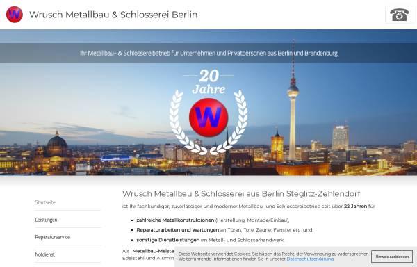 Vorschau von www.wrusch-metallbau.de, Wrusch Metallbau & Bauschlosserei