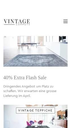 Vorschau der mobilen Webseite www.vintagecarpets.com, vintagecarpets.com