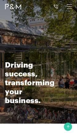 Vorschau der mobilen Webseite pmagentur.com, P&M Agentur Software+Consulting GmbH