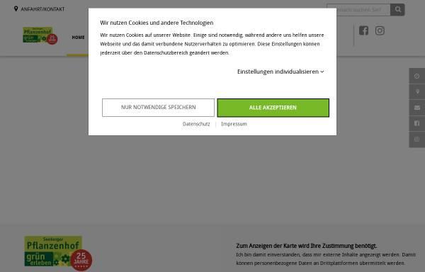 Vorschau von www.seeberger-pflanzenhof.de, Seeberger Pflanzenhof Gärtnerei B. Breuer