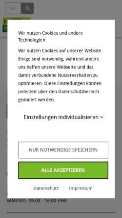 Vorschau der mobilen Webseite www.seeberger-pflanzenhof.de, Seeberger Pflanzenhof Gärtnerei B. Breuer