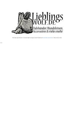 Vorschau der mobilen Webseite lieblingswolf.de, Lieblingswolf