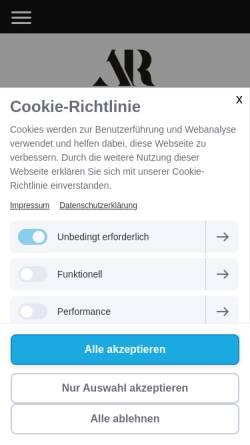 Vorschau der mobilen Webseite www.ra-rehfeldt.de, Rechtsanwältin Anna Rehfeldt