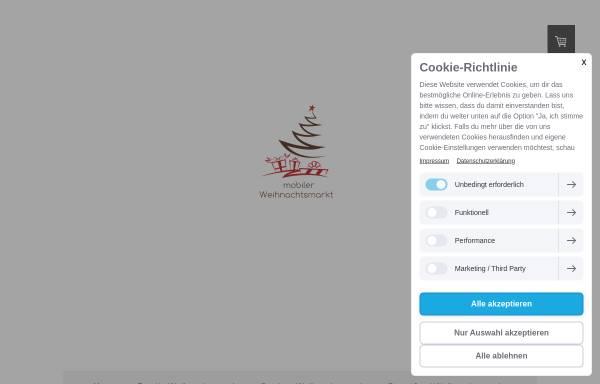Vorschau von www.mobilerweihnachtsmarkt.de, Mobiler Weihnachtsmarkt - Highlight Eventoffice