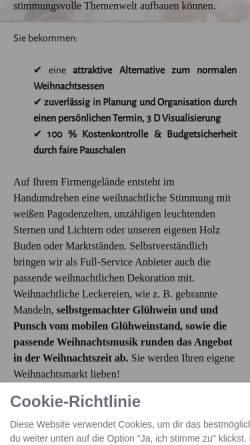Vorschau der mobilen Webseite www.mobilerweihnachtsmarkt.de, Mobiler Weihnachtsmarkt - Highlight Eventoffice