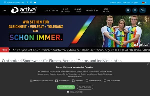 Vorschau von www.artiva-sports.com, Artiva Sports