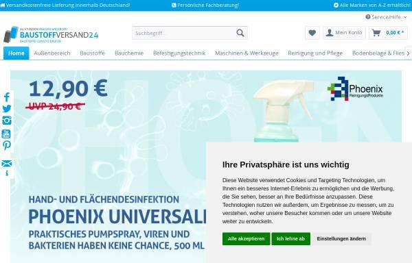 Vorschau von www.baustoffversand24.de, Baustoffversand24