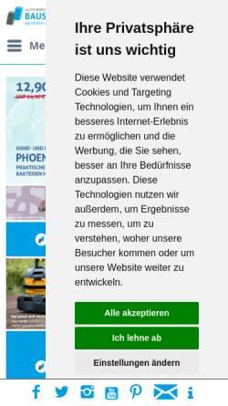 Vorschau der mobilen Webseite www.baustoffversand24.de, Baustoffversand24