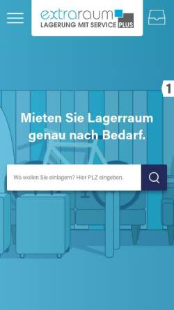 Vorschau der mobilen Webseite www.extraraum.de, Extraraum