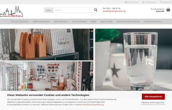Vorschau von www.koelngeschenk.de, Elke Kruse - Kölsche Geschenkartikel