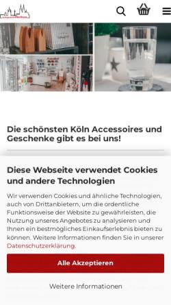 Vorschau der mobilen Webseite www.koelngeschenk.de, Elke Kruse - Kölsche Geschenkartikel